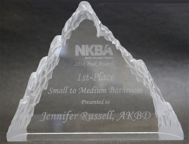 2014 Peak awards goes to HOM Basements for their award winning bathroom remodel